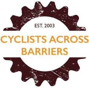 Cyclist Accorss the Barriers